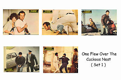 One Flew Over The Cuckoos Nest  - Set Of 5 A4 Sized Reprint Lobby Posters # 1
