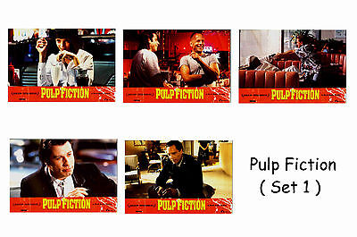 Pulp Fiction  - Set Of 5 A4 Sized Reprint Lobby Posters # 1