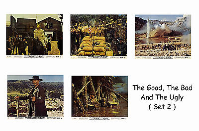The Good The Bad & The Ugly  - Set Of 5 A4 Sized Reprint Lobby Posters # 2