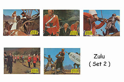 Zulu  - Set Of 5 A4 Sized Reprint Lobby Posters # 2