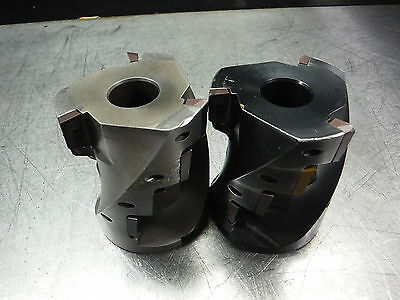 """Stellram 2.5"""" Indexable Milling Cutter Sa 3549 D4010T 1"""" Arbor (Loc1322A)"""