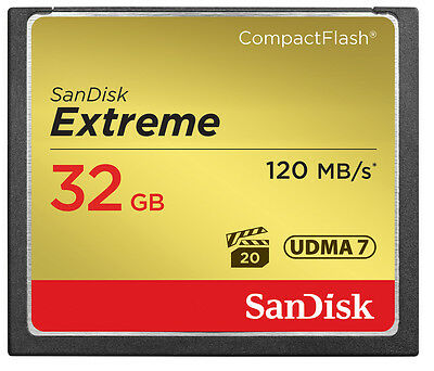 SanDisk 32GB CF Compact Flash Memory Card For Canon EOS 5DS R Camera