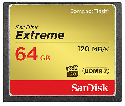 SanDisk 64GB CF Compact Flash Memory Card For Canon EOS 5DS R Camera