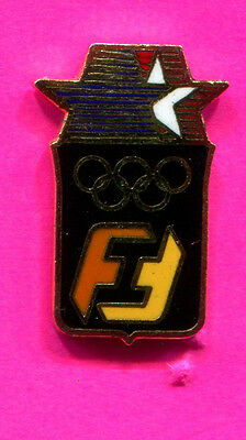1984 LA OLYMPIC PIN FIRST INTERSTATE BANK SPONSOR LOS ANGELES OLYMPIC ENAMEL