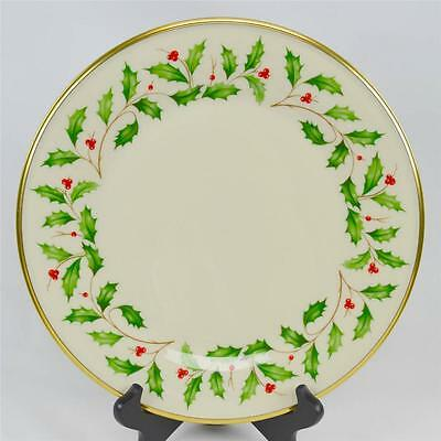 Lenox Dimension Holiday Christmas Holly Berry Dinner Plate Round Gold Trim