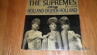 """""""THE SUPREMES"""" RECORD ALBUM  """"SINGS HOLLAND-DOZIER-HOLLAND""""  VG+ 1967  1980"""