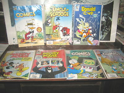 7 RARE HTF COLLECTABLE WALT DISNEY'S COMICS MICKEY MOUSE DONALD DUCK $CROOGE