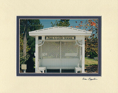 """QUAINT BUS STOP 5"""" X 7"""" PHOTO DOUBLE MATTED IN AN 8"""" X 10"""" - READY FOR FRAMING"""