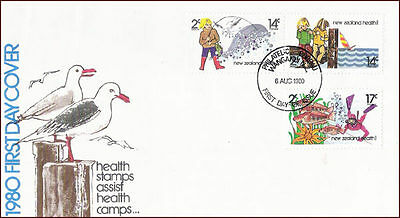 NEW ZEALAND - 1980 HEALTH STAMPS - 3V - FDC
