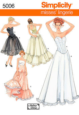 Sewing Pattern Simplicity  Misses' Corset Lingerie 5006