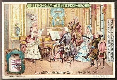 1780 Rich French Playing Music NICE c1903 Card