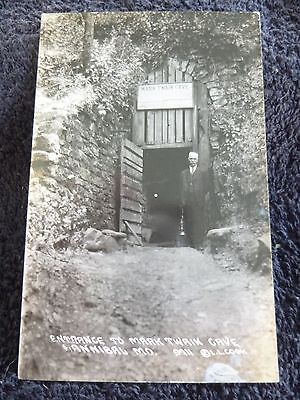 1940's RPPC Entrance to Mark Twain Cave in Hannibal, Mo Missouri PC Cook Photo