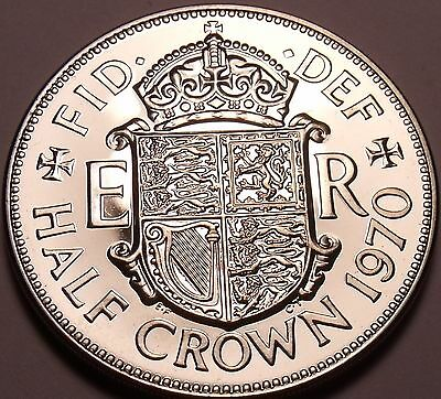 Huge Proof Great Britain 1970 Half Crown~Last Year Ever Minted~Fantastic~Free Sh