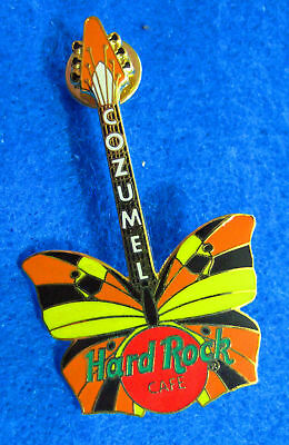 COZUMEL MEXICO 2002 BUTTERFLY GUITAR SERIES Hard Rock Cafe PIN LE