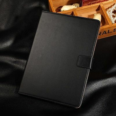 For Apple iPad 2 3 4 Mini Air Luxury Genuine Leather Smart Case Flip Stand Cover