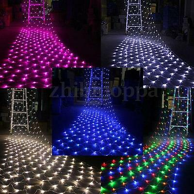 110V 220V 100/300 LED Net String Fairy Light Party Wedding Xmas Decoration Lamp