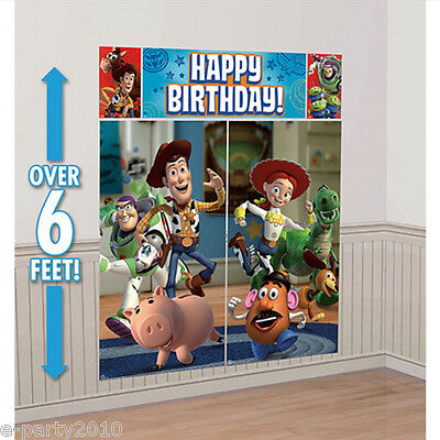 TOY STORY Game Time WALL POSTER DECORATING KIT (5pc) ~ Birthday Party Supplies