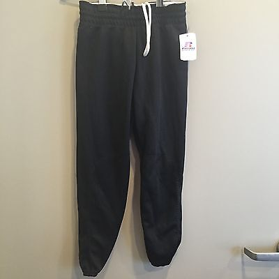 Baseball Pants Youth 100% Polyester Black Grey Gray White Pullup Elastic NEW