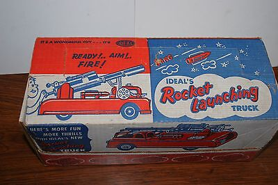 VINTAGE IDEAL TOYS ROCKET LAUNCHING TRUCK in ORIGINAL BOX
