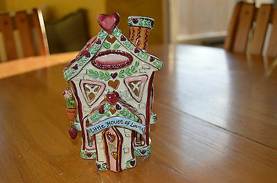 NEW IN BOX!!! Clayworks Heather Goldminc Candle HOUSE OF LOVE RARE Retired 2004