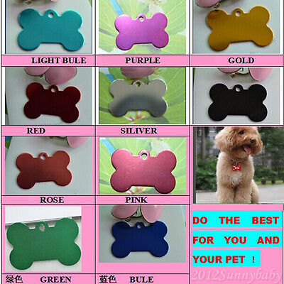 Trendy Cute Custom Engraved Pet ID Tags for Dogs and Cats / Bone Shape Dog Tags