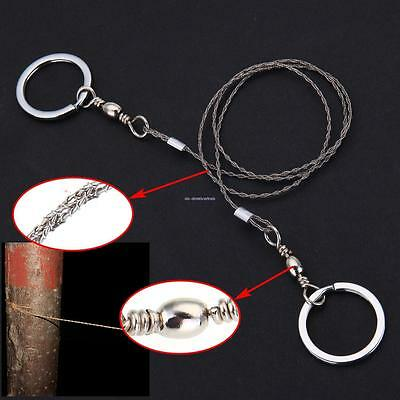 Camping Hunting Travel Emergency Survive Tool Ring Wire Saw Stainless Steel