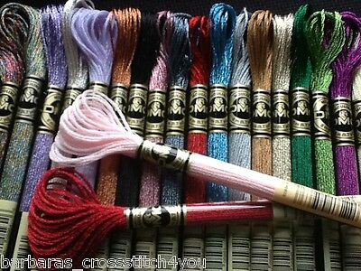Dmc Light Effect Threads/skeins + Half Sets (18) & Full Sets (36) Incl Shipping