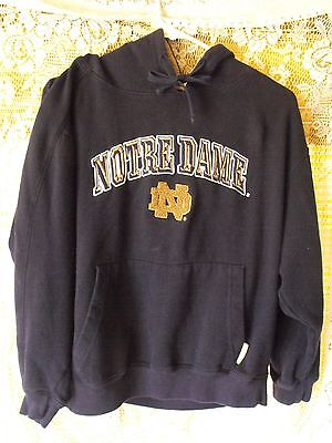 NOTRE DAME FIGHTING IRISH HOODIE SEWN LETTERS  YOUTH SIZE MEDIUM