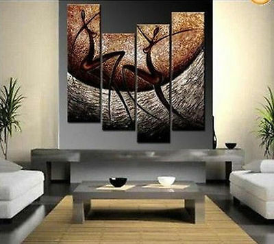 Beautiful Large Modern Abstract Huge Art Oil Painting on Canvas (No Frame)