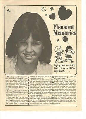 Kristy McNichol, Full Page Vintage Clipping, Pleasant Memories