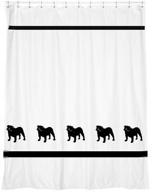 Bulldog Dog Shower Curtain *Your Choice of Colors* - Our Original for you