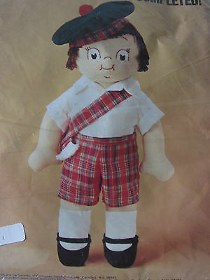 Vintage Campbell Soup Doll KIT Campbell's Kids Boy Scottish Plaid Shorts Tam