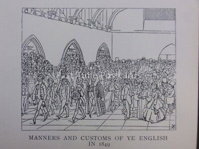 Political, Law, Wig & Gown WESTMINSTER HALL - OPENING TERM Antique Punch Cartoon