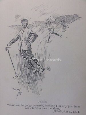 Golf Theme .............FORE..... Antique Punch Cartoon