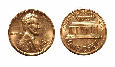 1963-D Lincoln Cent - Double Die # 1DO-009 Choice bu Red #221