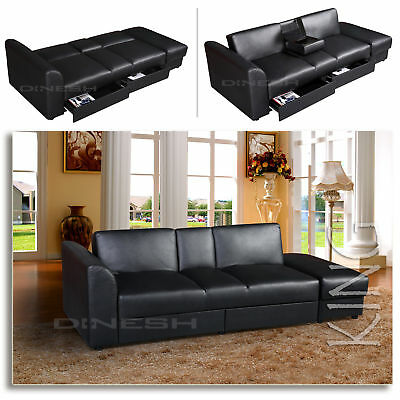 heimkino jasper home cinema 2 sitzer sofa mit tisch schwarz eur 399 00 picclick de. Black Bedroom Furniture Sets. Home Design Ideas