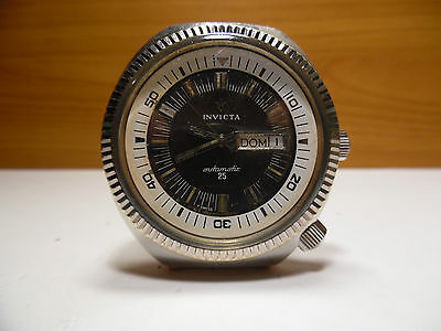VINTAGE SUB DIVER BIG SIZE INVICTA DUE CORONE  AUTOMATIC SWISS MADE WRISTWATCH
