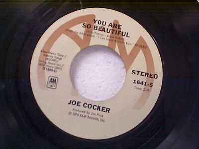 """JOE COCKER """"YOU ARE SO BEAUTIFUL / IT'S A SIN WHEN YOU LOVE SOMEBODY"""" 45 NM"""