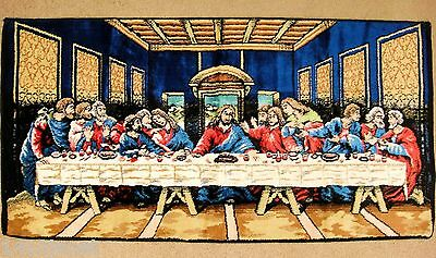 The Last Supper Tapestry Made in Italy 38 x 19.25 Jesus and Disciples