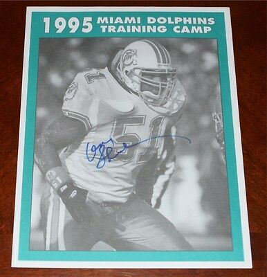 DON SHULA Signed MIAMI DOLPHINS 1995 Training Camp Roster