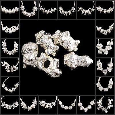 hg2567-2587 Wholesale Silver-plated Copper Spacer Bead Findings