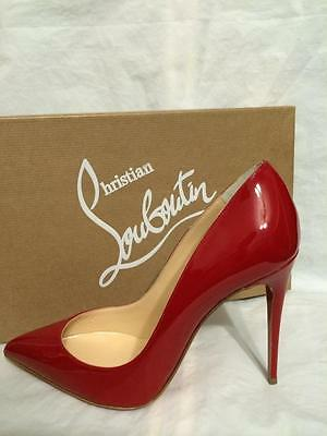 finest selection 4da13 57ed1 CHRISTIAN LOUBOUTIN PIGALLE FOLLIES 100 Patent Leather Heels Pumps Shoes Red