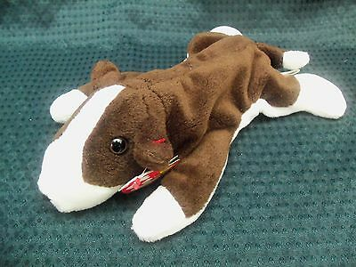 "toys 4694 TY Beanie Babies 7"" Super Soft Puppy Dog ** BRUNO **  w/ tags 5th Gen"