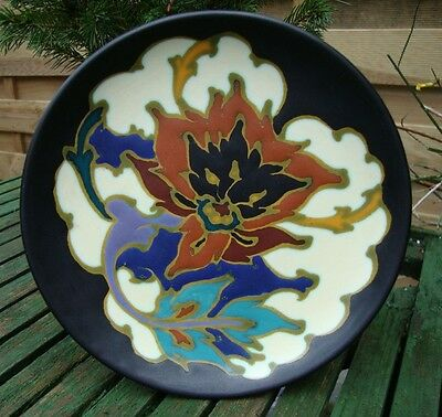 ~*Lovely Gouda Pottery Hand Painted Rosario Wall Plate from the Regina Factory*~