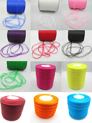 """NEW 12  Different colors  50Yards 3/8 """"(10mm) Sheer Organza Ribbon"""
