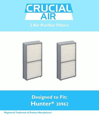 2 Hunter 30962 Air Purifier Filters Fit Models 30730, 30713 & 30730 NEW