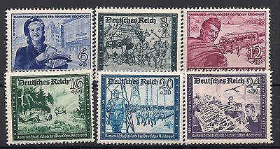 Nazi Germany 3rd Reich Mi# 888-893 MNH Postal Employees & Hitler's Cuture Fund**
