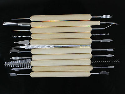 Set of 11 (21 working head) Clay Wax Carver Carving OOAK Doll Tools Set