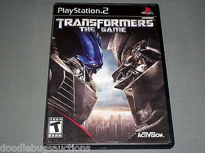 TRANSFORMERS The Game AUTOBOTS/DECEPTICON Playstation 2 PS2 Black Label COMPLETE