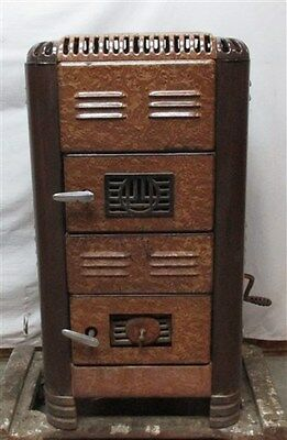 Brown Porcelain Eagle Foundry Wood Burning Stove Parlor Enamel Heater Cast Iron